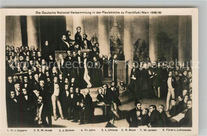 AK / Ansichtskarte Frankfurt_Main Deutsche Nationalversammlung in der Paulskirche 1848 49 Frankfurt Main