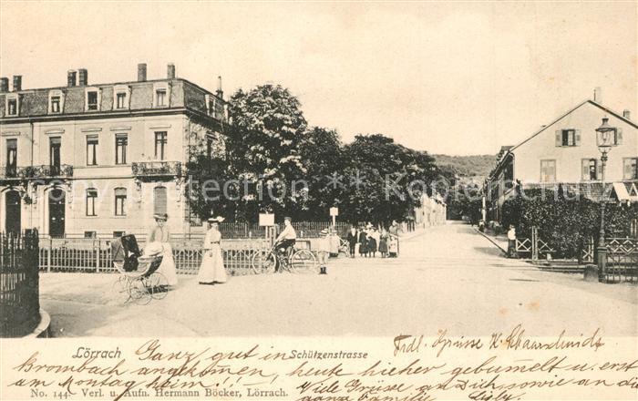 AK / Ansichtskarte Loerrach Schuetzenstrasse Loerrach
