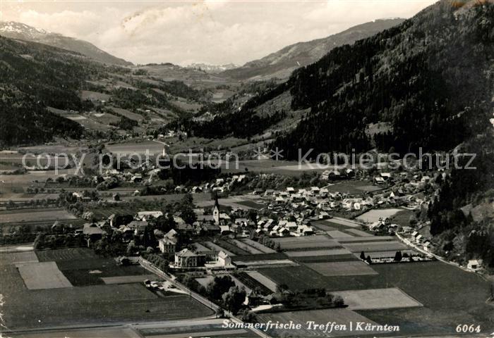 AK / Ansichtskarte Treffen_Ossiacher_See_Kaernten Fliegeraufnahme Treffen_Ossiacher