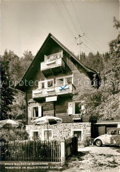 AK / Ansichtskarte Millstatt_Millstaettersee Haus Waldheim  Millstatt_Millstaettersee
