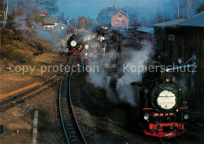 AK / Ansichtskarte Lokomotive Schmalspurbahn Zittau Oybin Jonsdorf Bahnhof Bertsdorf  Lokomotive