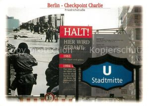 AK / Ansichtskarte Berlin Checkpoint Charlie Friedrichstrasse  Berlin