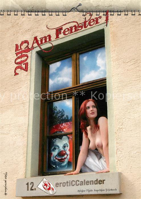AK / Ansichtskarte Erotik Frau Kalender Am Fenster 2015 Erotik