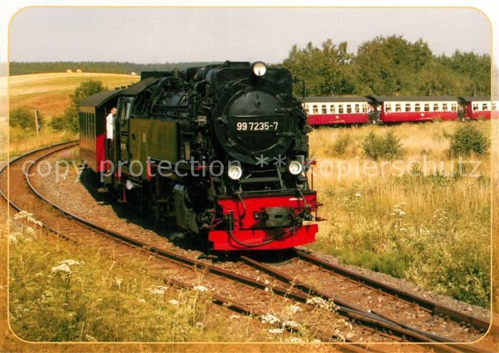 AK / Ansichtskarte Lokomotive Neubaudampflok 99 7235 Bahnhof Stiege  Lokomotive