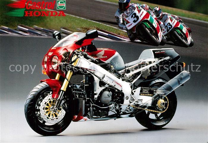 AK / Ansichtskarte Motorrad Castrol Honda  Motorrad