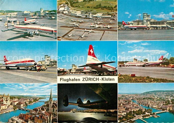 AK / Ansichtskarte Swissair Flughafen Zuerich Kloten  Swissair