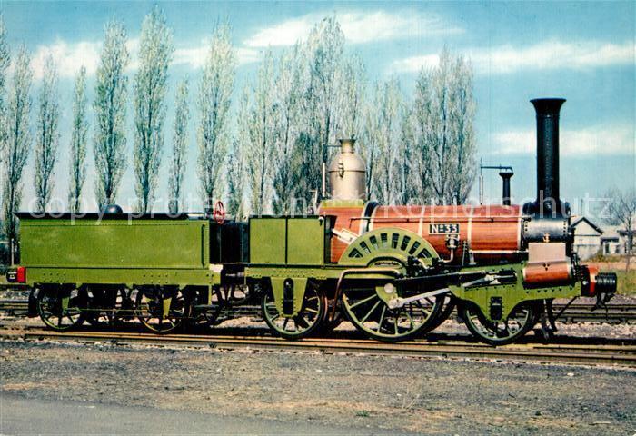AK / Ansichtskarte Lokomotive Buddicom Nr. 33 Paris a Rouen Lokomotive