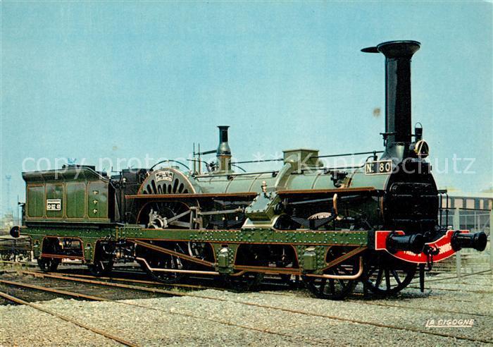 AK / Ansichtskarte Lokomotive Crampton Nr. 80 Le Continent Paris a Strasbourg Lokomotive