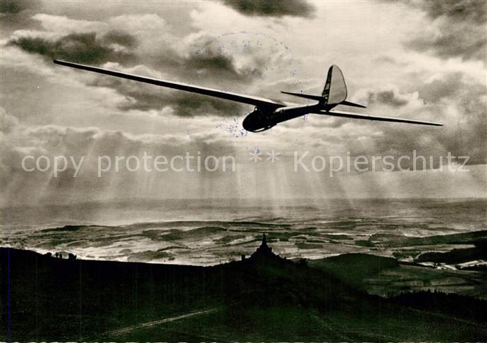 AK / Ansichtskarte Segelflug Wasserkuppe Rhoen Wattenmeer  Segelflug