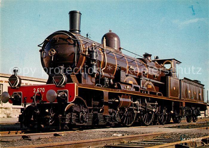 AK / Ansichtskarte Lokomotive Atlantic Nr. 2.670 Nord  Lokomotive
