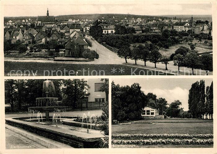AK / Ansichtskarte Budenheim Zierbrunnen Rheinanlage Budenheim