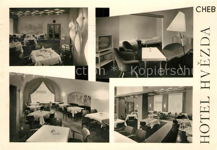AK / Ansichtskarte Cheb Hotel Hvezda Cheb