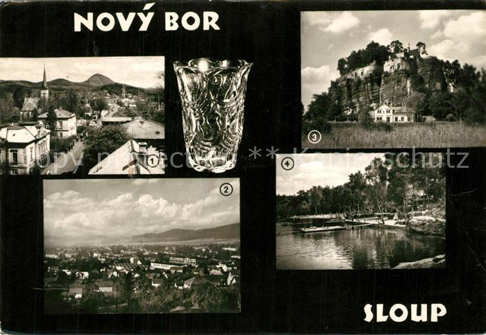 AK / Ansichtskarte Novy_Bor Sloup Fliegeraufnahme  Novy_Bor