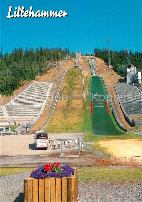 AK / Ansichtskarte Ski Flugschanze Lillehammer Norge Lysgardsbakkene OL anlegg  Ski Flugschanze