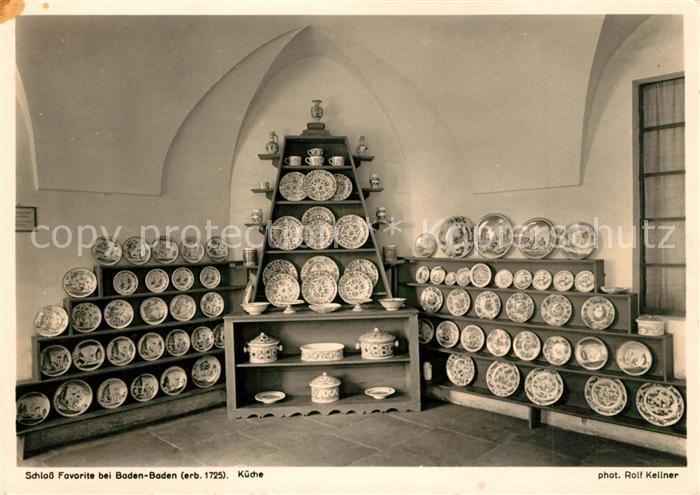 AK / Ansichtskarte Baden Baden Schloss Favorite Kueche Baden Baden