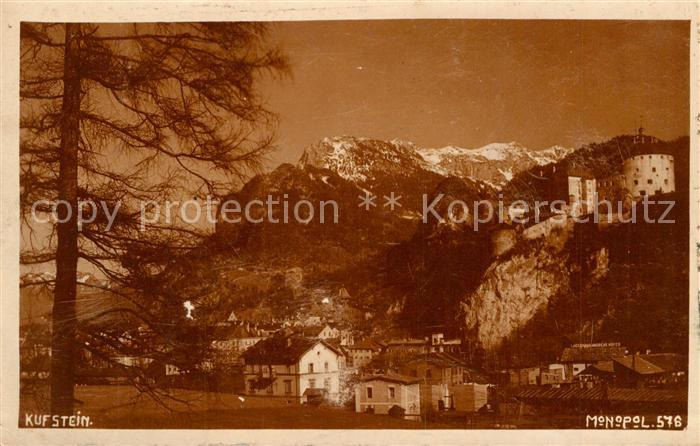 AK / Ansichtskarte Kufstein_Tirol Teilansicht mit Festung Alpen Kufstein_Tirol