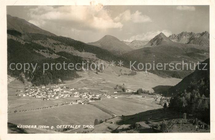 AK / Ansichtskarte Nauders_Tirol Panorama Blick gegen oetztaler Alpen Nauders Tirol