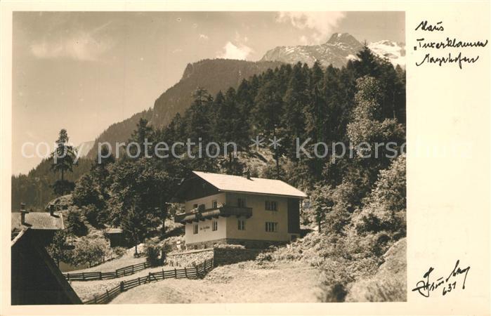 AK / Ansichtskarte Mayrhofen_Zillertal Haus Tuxerklamm Zillertaler Alpen Mayrhofen_Zillertal