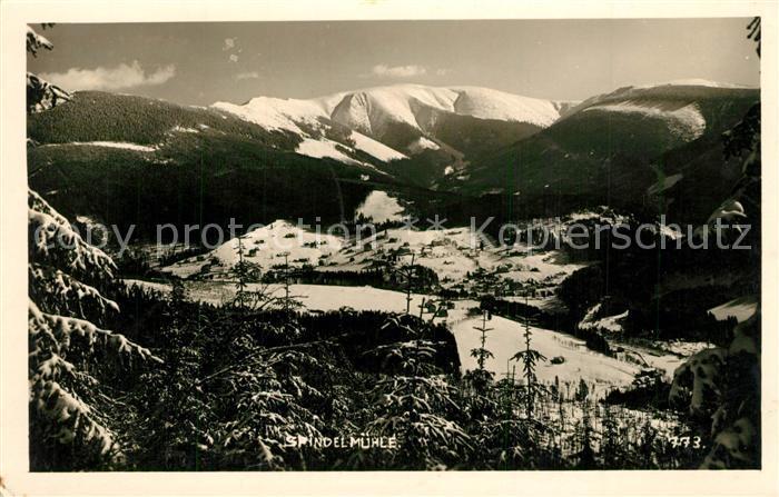 AK / Ansichtskarte Spindelmuehle Winterpanorama Riesengebirge Spindelmuehle