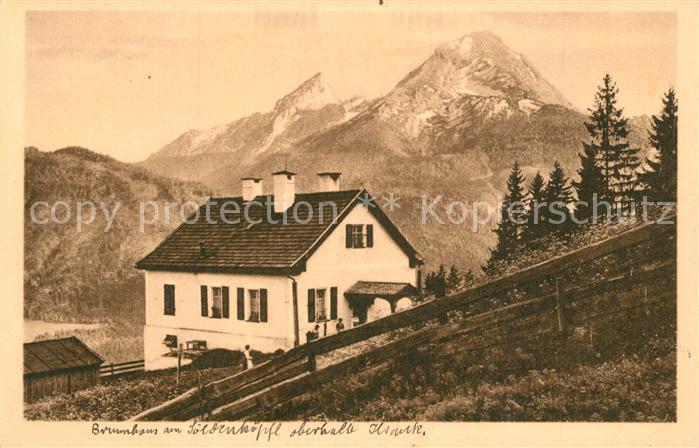AK / Ansichtskarte Finkenberg_Tirol Soleleitungsweg Brunnhaus am Soeldenkoepfl mit Watzmann Finkenberg Tirol