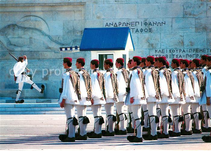 AK / Ansichtskarte Leibgarde_Wache Athen Evzonen  Leibgarde Wache