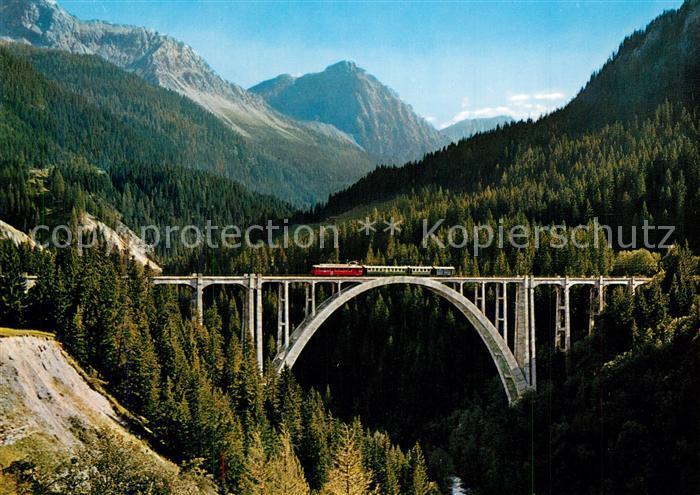 AK / Ansichtskarte Viadukte_Viaduc Langwieser Viadukt Arosa Eisenbahn Viadukte Viaduc