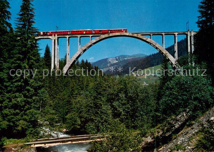AK / Ansichtskarte Viadukte_Viaduc Langwieserviadukt Arosa Eisenbahn Viadukte Viaduc