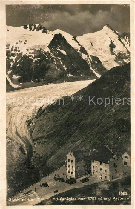 AK / Ansichtskarte Heiligenblut_Kaernten Glocknerhaus mit Grossglockner Pasterzegletscher Hohe Tauern Heiligenblut Kaernten