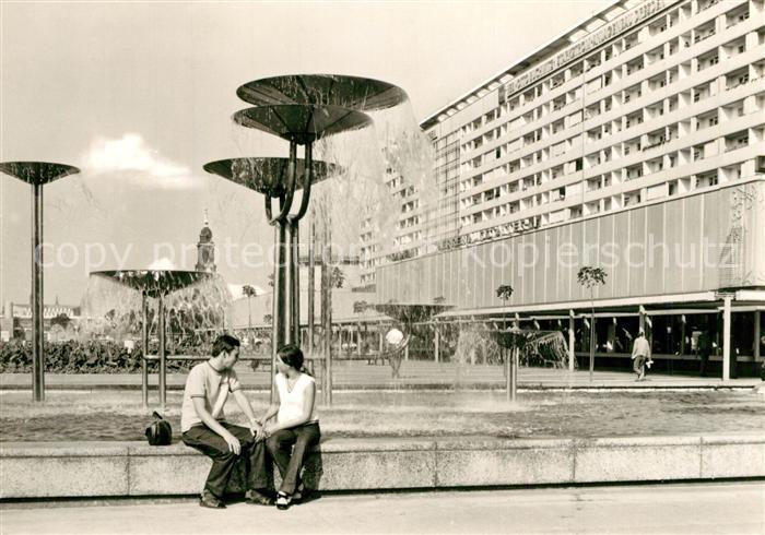 AK / Ansichtskarte Dresden Prager Strasse Brunnen Dresden