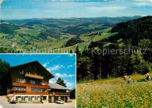 AK / Ansichtskarte Hulftegg Gasthaus Sennhof mit Blick ins Toggenburg Hulftegg