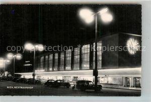 AK / Ansichtskarte Wien Westbahnhof Nachtaufnahme Wien