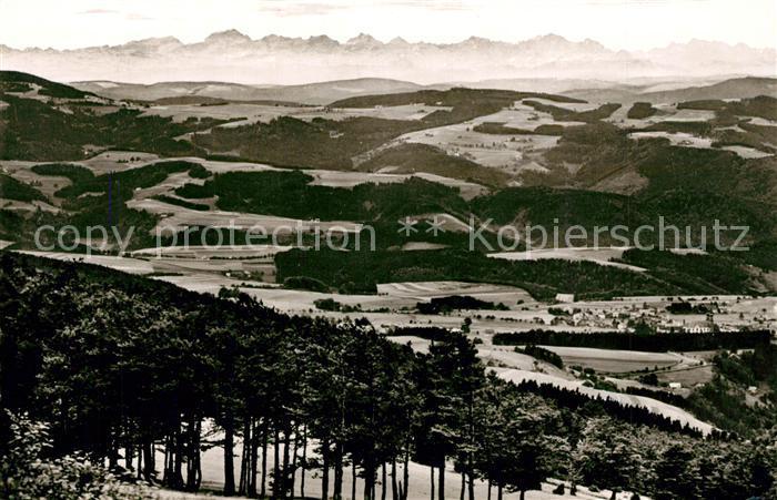 AK / Ansichtskarte Waldkirch_Breisgau Berghotel Kandel Landschaftspanorama Alpenkette Waldkirch Breisgau