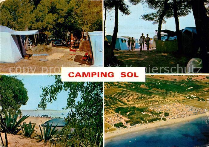 AK / Ansichtskarte Cambrils Camping Sol Details Fliegeraufnahme Cambrils