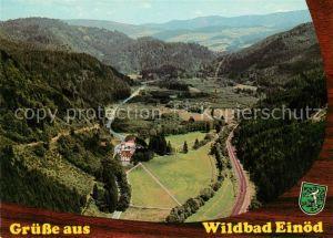 AK / Ansichtskarte Wildbad_Einoed Thermalbad Fliegeraufnahme Wildbad_Einoed