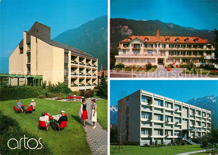 AK / Ansichtskarte Interlaken_BE Hotel Artos Alters und Pflegeheim Interlaken_BE