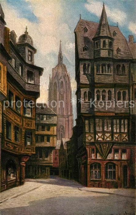 AK / Ansichtskarte Kuenstlerkarte Liebig Alter Markt Domblick Frankfurt am Main Kuenstlerkarte