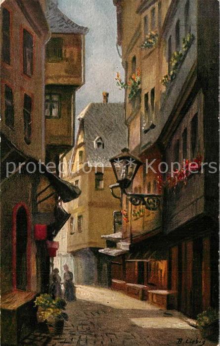 AK / Ansichtskarte Kuenstlerkarte Liebig Lange Schirn vom alten Markt Frankfurt am Main Kuenstlerkarte