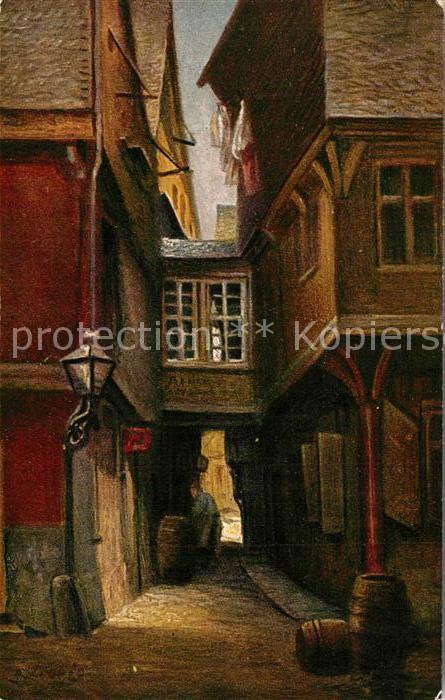 AK / Ansichtskarte Kuenstlerkarte Liebig Rapunzelgaesschen Frankfurt am Main Kuenstlerkarte