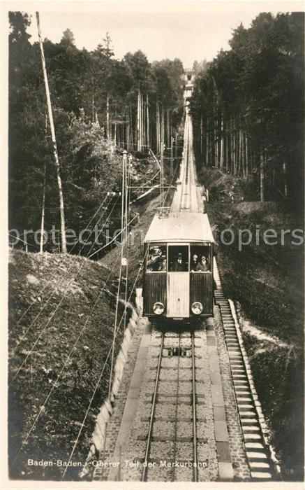 AK / Ansichtskarte Bergbahn Merkurbahn Baden Baden Bergbahn