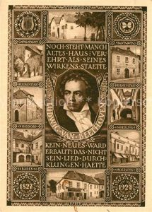AK / Ansichtskarte Beethoven Heiligenstadt Nussdorf Baden Moedling  Beethoven