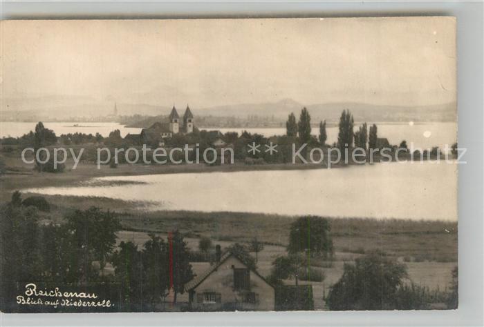 AK / Ansichtskarte Insel_Reichenau Blick auf Niederzell Insel Reichenau