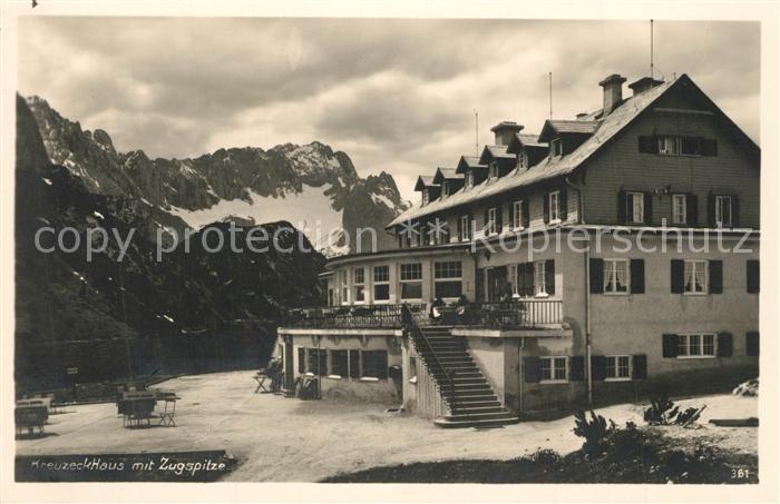 AK / Ansichtskarte Zugspitze Kreuzeckhaus Zugspitze