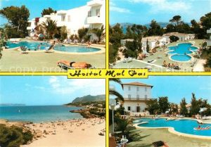AK / Ansichtskarte Alcudia_Mallorca Hotel Mal Pas Swimmingpool Strand Alcudia Mallorca