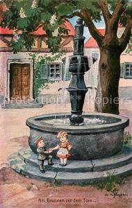 AK / Ansichtskarte Hoffmann_Ad. Am Brunnen vor dem Tore Soldat Hoffmann Ad.