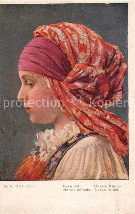AK / Ansichtskarte Kuenstlerkarte C. V. Muttich Unsere Kinder Nade deti Kuenstlerkarte
