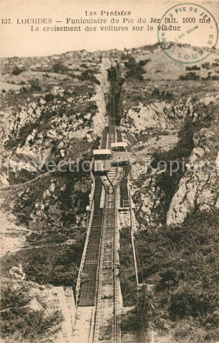 AK / Ansichtskarte Bergbahn Pyrenees Lourdes Funiculaire du Pic du Jer  Bergbahn