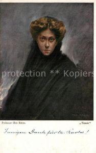 AK / Ansichtskarte Kuenstlerkarte Max Rabes Trauer  Kuenstlerkarte
