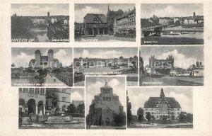AK / Ansichtskarte Minden_Westfalen Marktplatz Dom Wesertor Minden_Westfalen