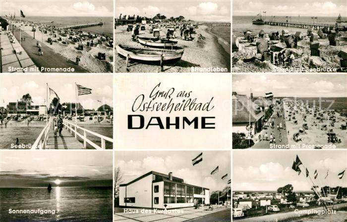AK / Ansichtskarte Dahme_Ostseebad Seebruecke Haus des Kurgastes Campingplatz Dahme_Ostseebad 0