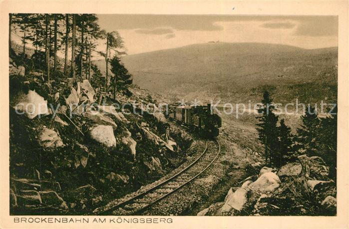 AK / Ansichtskarte Lokomotive Brockenbahn Koenigsberg Lokomotive